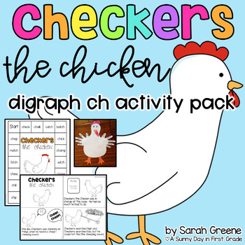 Checkers the Chicken {digraph /ch/ activity pack!}