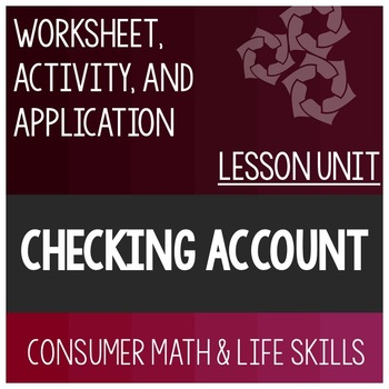 Checking Account Bundle (Half)- Special Education High School