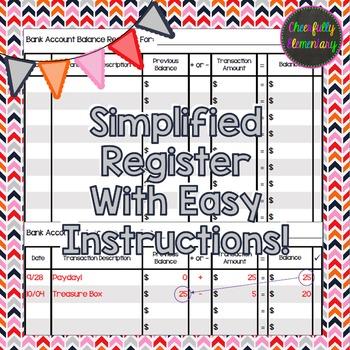 Checking Account Essentials - Checks & Ledger/Register FREEBIE!
