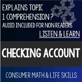 Checking Account PowerPoint- High School Special Education