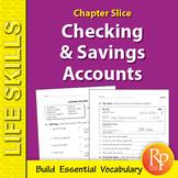 Checking Account & Savings Account Life Skills Unit