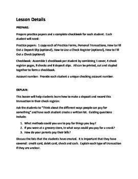 Checking Account - Writing & Recording