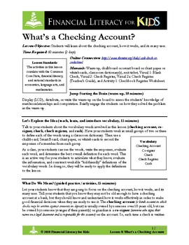 Lesson 8: What's a Checking Account?
