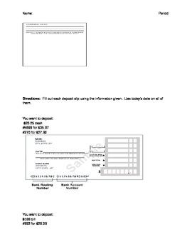 Checking Accounts Activity 4