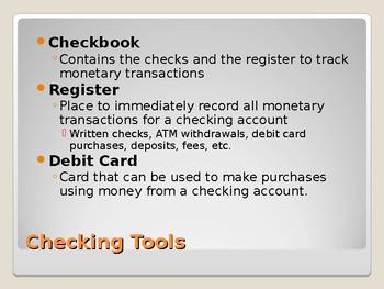 Checking Basics