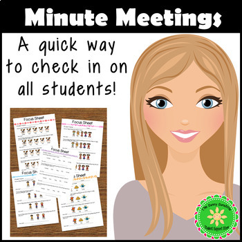 Minute Meeting and Focus Sheet for Student Counseling