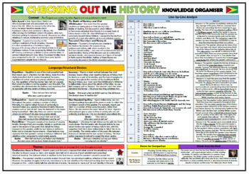 Checking Out Me History - John Agard - Knowledge Organizer/ Revision Mat!