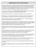 FREE Novel Journal Questions