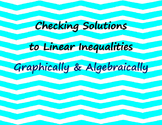 Checking Solutions to Inequalities