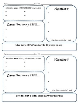 Reading Comprehension-Checking Students' Thinking Bookmark