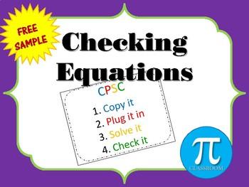 Checking equations