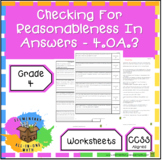 Checking for Reasonableness in Answers Worksheet - (4.OA.3)