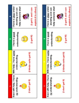 Checking for Understanding Desk Strips and classroom monitoring signs