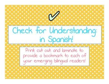 Checking for Understanding- In Spanish!