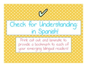Checking for Understanding- In Spanish!