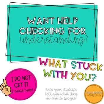 Checking for understanding with rubric