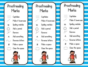 Checklist Bookmarks (Proofreading, Close Reading, Writing Process, etc.)
