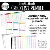 Checklist Bundle - Google Sheets Digital Checklists {editable}