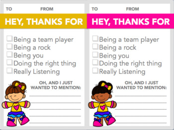 Checklist Compliment Cards