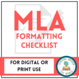 Checklist For MLA Format: PDF & Google Drive