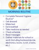 Life Skills Check List- Visual Checklist for Morning Routine
