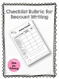 Checklist Rubric for Recount Writing (Ontario)