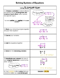 Checklist - Solving Systems of Equations using Elimination