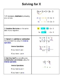 Checklist - Solving for X