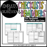 Reminders and To-Do's Checklist