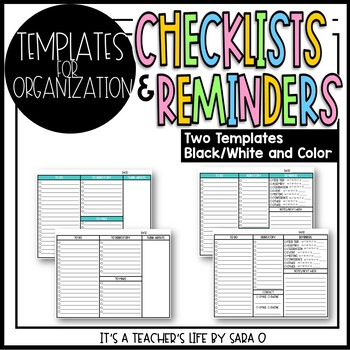 Checklist and Reminders