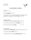 Checklist for 5 Paragraph Paper