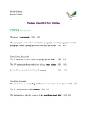 Checklist for 5 Paragraph Essay FREEBIE
