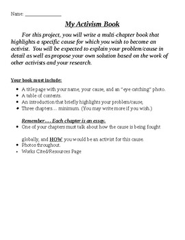 Checklist for Activism Essay