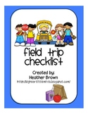 Checklist for Field Trips