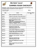 Checklist for Fun Event