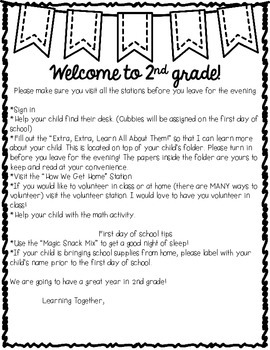 Checklist for Meet the Teacher Night