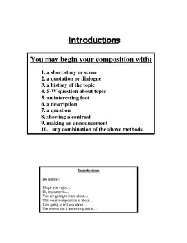 Checklist for Narrative Writing
