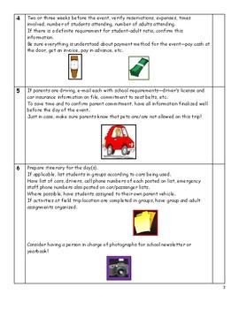Checklist for Organizing a Field Trip