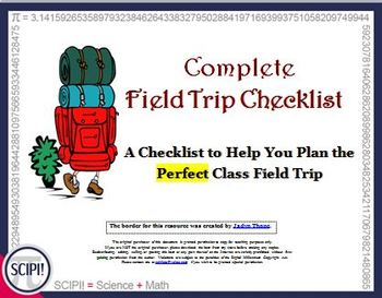 Easy to Use Teacher Checklist for Planning the Foolproof Class Field Trip