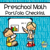 Checklist for Preschool Portfolio:  Math