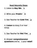 Checklist for Read Naturally