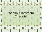 Checklist for Students
