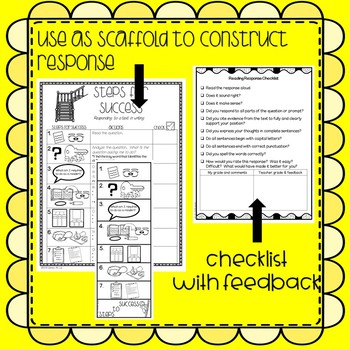 Checklist for Success! Step by Step! Respond to Texts in Writing!