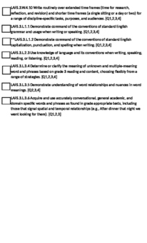 Checklist for Third Quarter Standards (FL) 3rd Grade