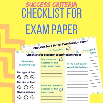 Checklist for a better exam paper