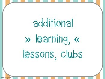 Checklist for clubs, lessons & additional learning opportunities