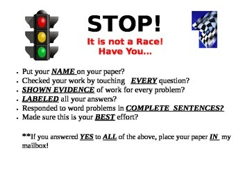 Checklist for students before they turn their paper in.