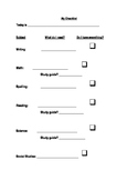 Checklist for students who forget homework materials