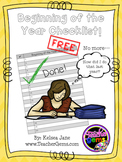 Checklist for the Beginning of the Year - Editable {FREEBIE}