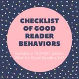Checklist of Good Reader Behaviors {editable}